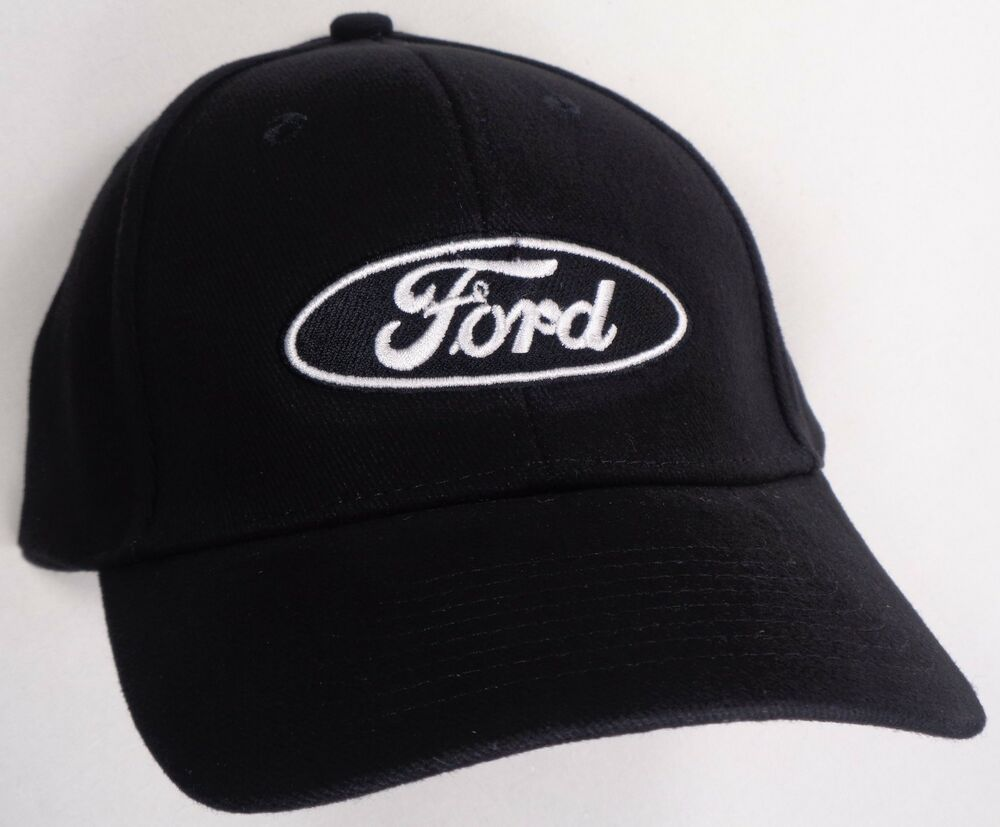 Hat Cap Ford Oval Logo Black H104 Ebay