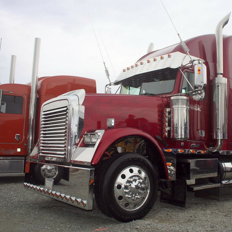 Freightliner Fld120 Hood : Freightliner fld classic condo hood grill louvers