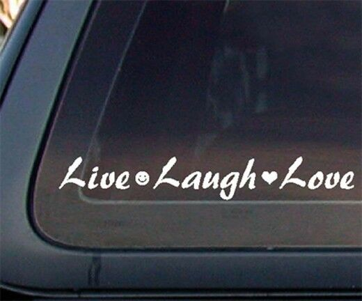 live laugh love car decal    sticker