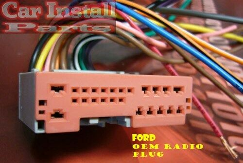 ford oem stock radio wire harness plug 2004 2010 ebay. Black Bedroom Furniture Sets. Home Design Ideas