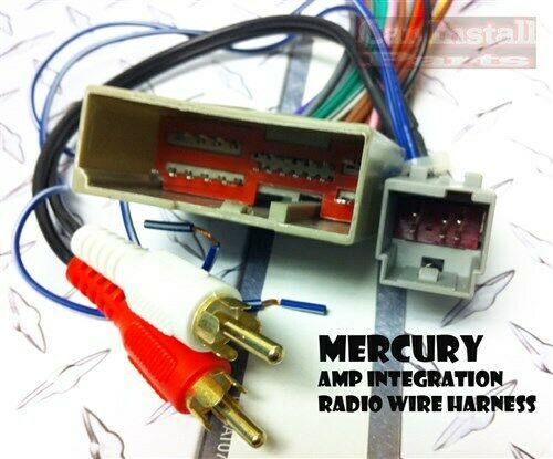 mercury premium radio w amp wire harness 2003 09 ebay