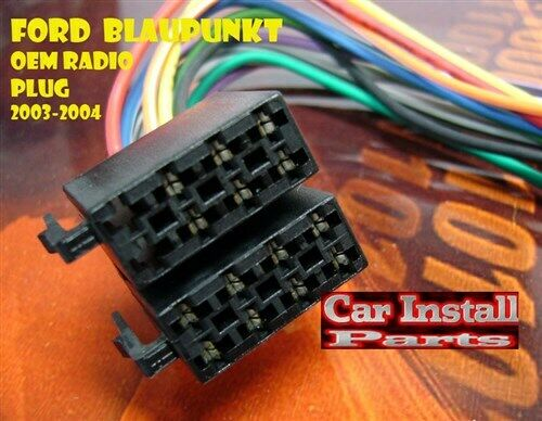 ford blau punkt oem stock radio wire harness plug 03 04 ebay. Black Bedroom Furniture Sets. Home Design Ideas