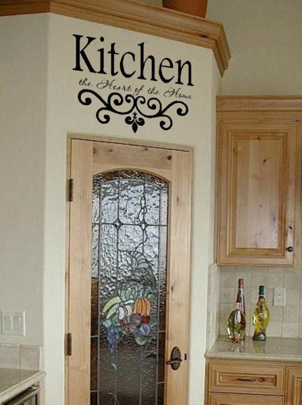 wall decor for kitchen ideas kitchen wall quote vinyl decal lettering decor sticky ebay 26155