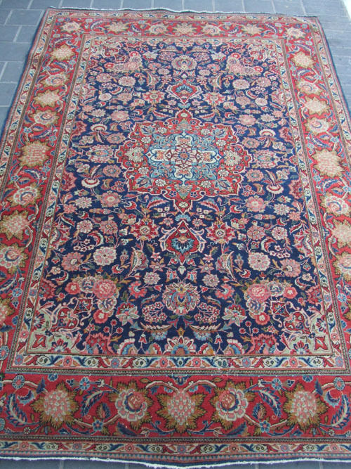 Antique Persian Kashan Oriental Area Rug Carpet 1900 Ebay