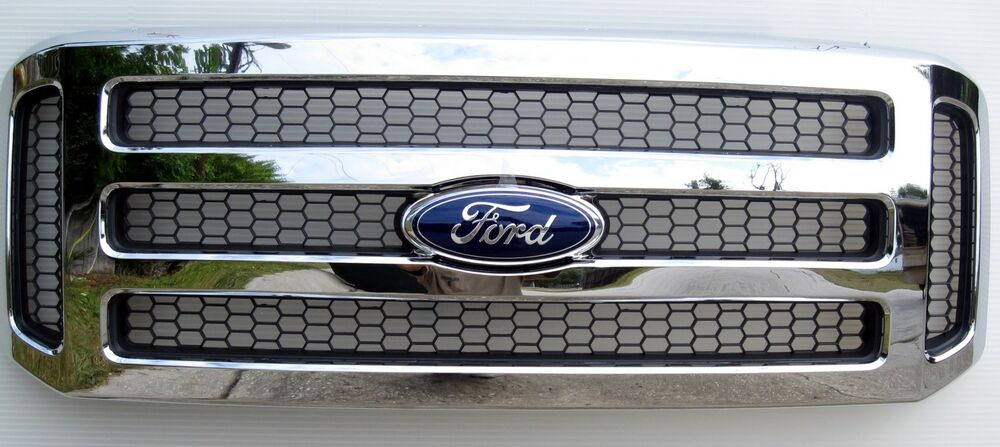 2005 07 ford chrome grille grill f250 f450 excursion ebay
