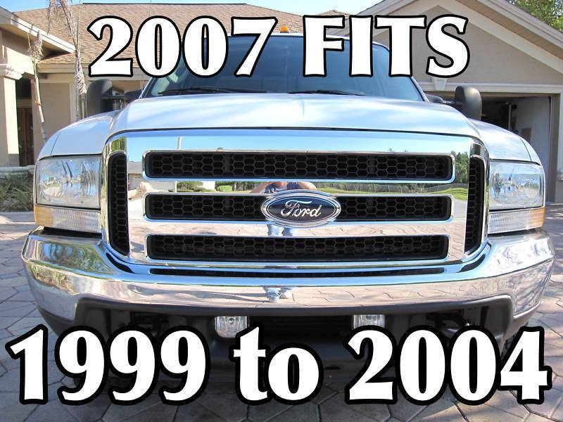 2005 FORD F-250 TO F550 SUPER DUTY GRILL CONVERSION,2017 NO FADE OEM ...