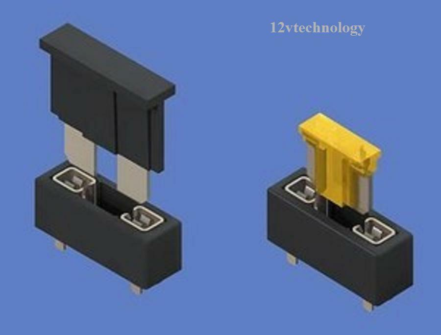 2x Micro Mini Low Profile Blade Fuse Holder 2 In 1 In
