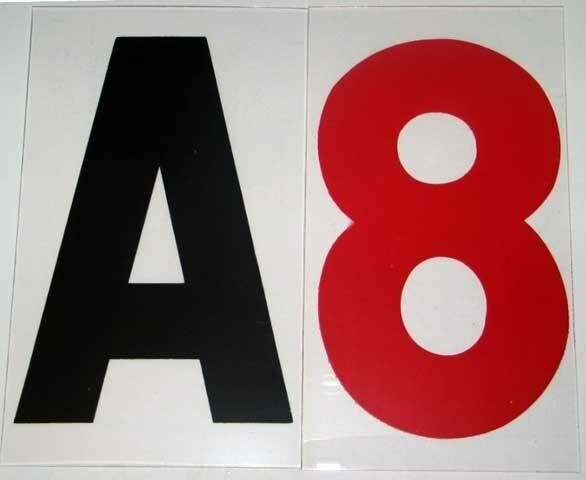 new changeable rigid sign letters set 8 inch on 9quot back ebay With rigid sign letters