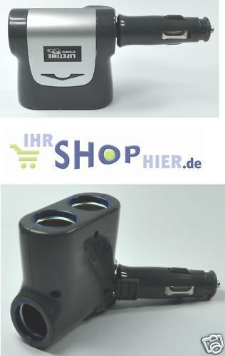 kfz adapter stecker 3 fach verteiler zigarettenanz nder ebay. Black Bedroom Furniture Sets. Home Design Ideas