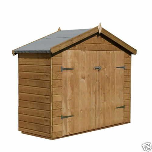 8 x 4 tool shed bike shed garden shed ebay for Garden shed 7x4