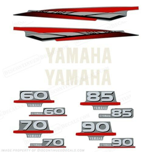 Yamaha 2 stroke 60 70 85 90hp outboard engine decal kit ebay for 60 hp yamaha outboard specs