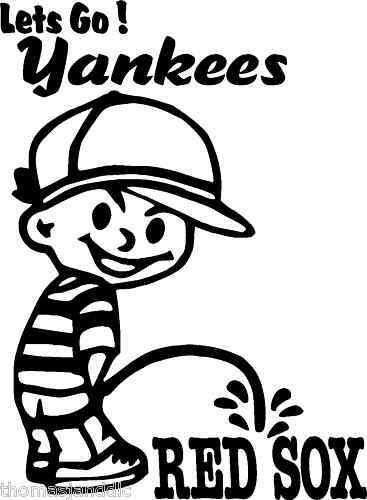 peeing on the yankees