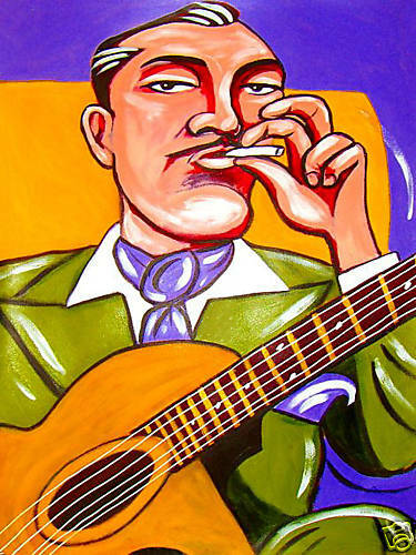 django reinhardt print poster gypsy jazz guitar selmer. Black Bedroom Furniture Sets. Home Design Ideas