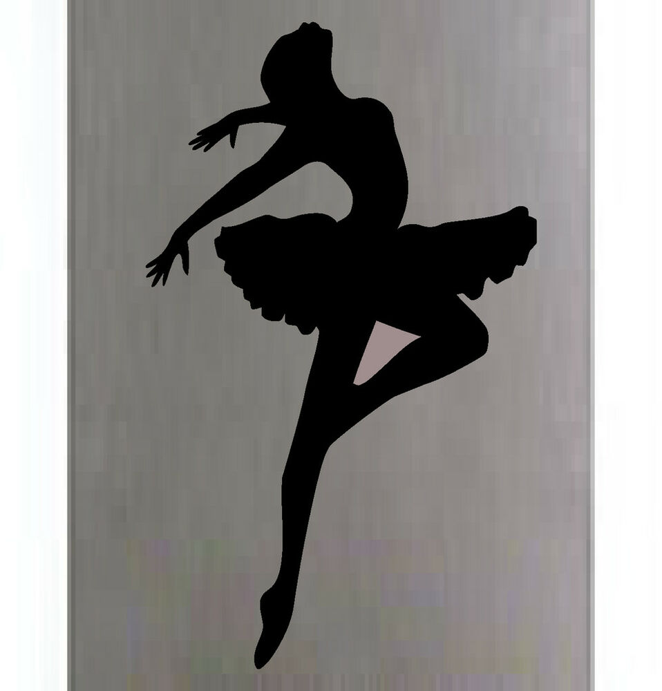 BALLERINA SILHOUETTE STICKER DECAL ROOM WALL ART #1