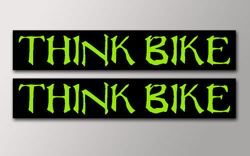 2 THINK BIKE STICKERS v011 MONSTER STYLE