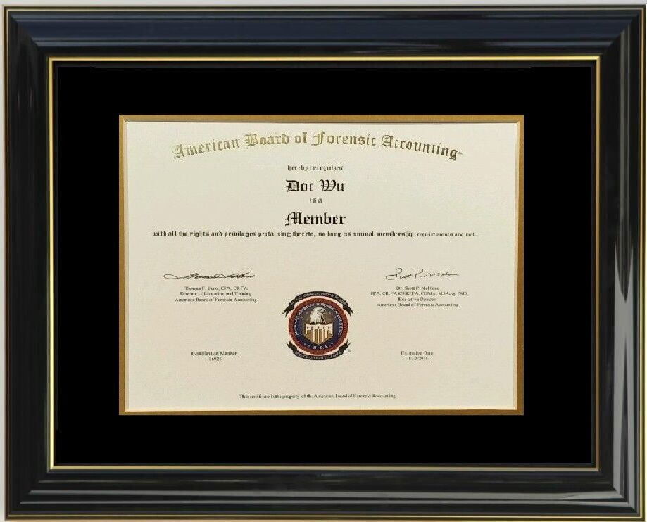Diploma Certificate Glossy Black Lacquer Wood Honors Frame