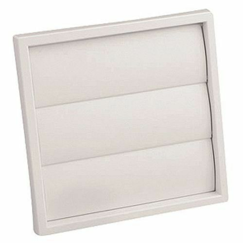 Square Vent Duct : White mm square air flap vent duct grill ebay