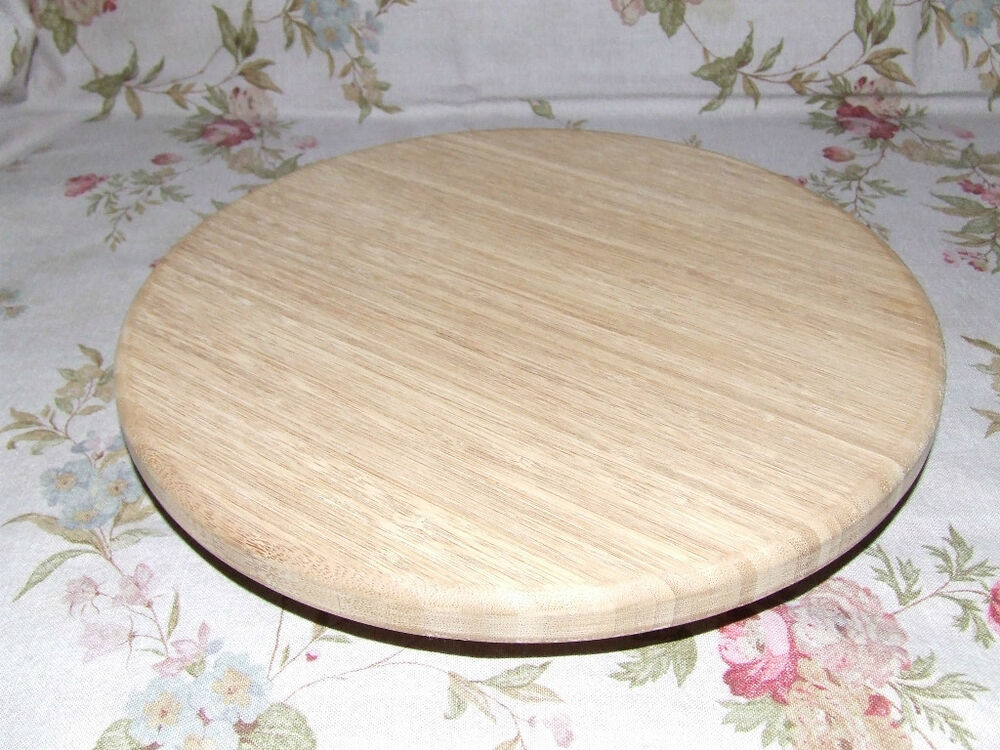 Lazy Susan/Turntable/Bamboo/Craft or Cake Decorating eBay