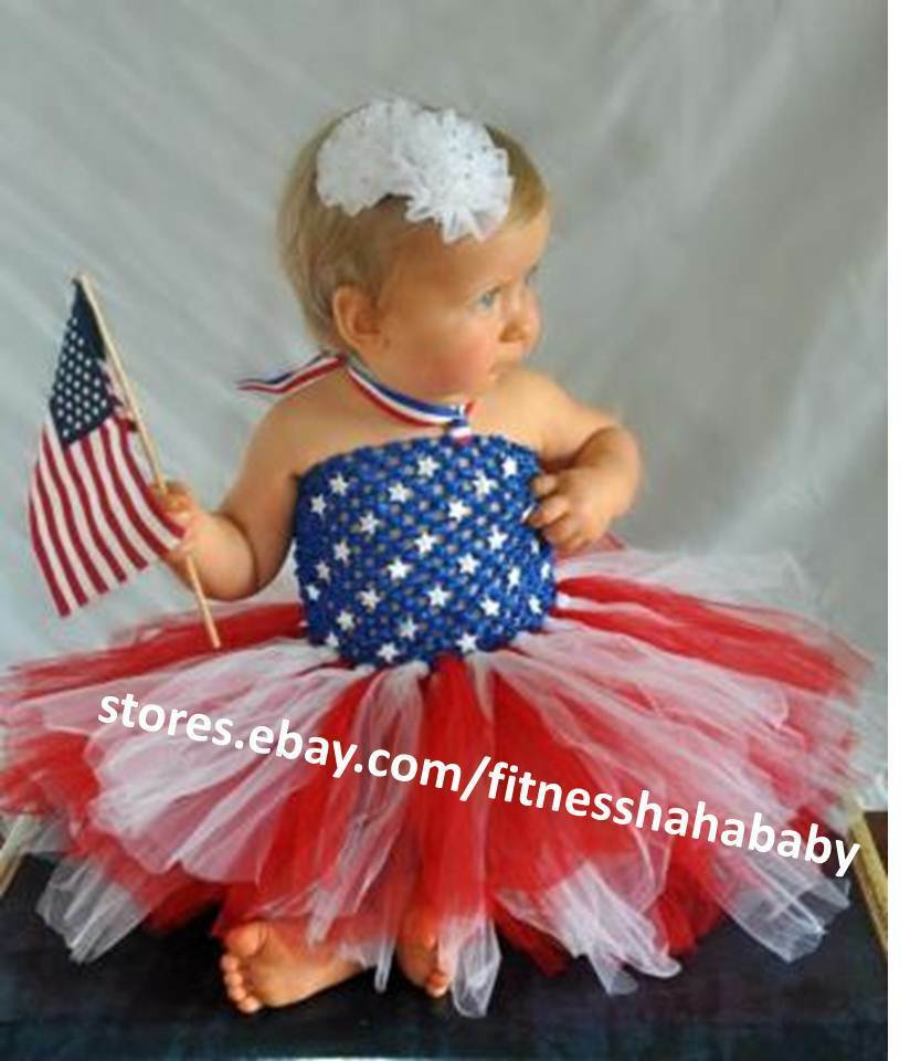 new 4th july baby girl tutu dress newborn up to 6 month