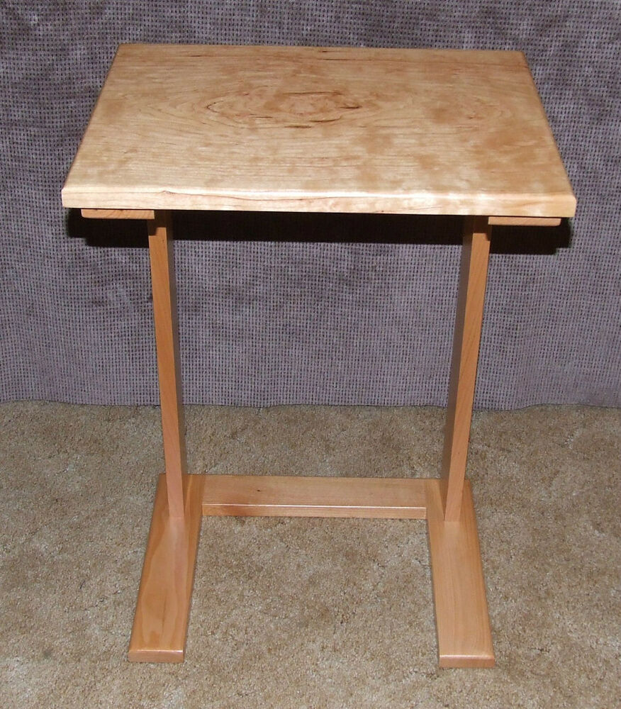 Laptop table sofa server side table handcrafted ebay for Sofa side table
