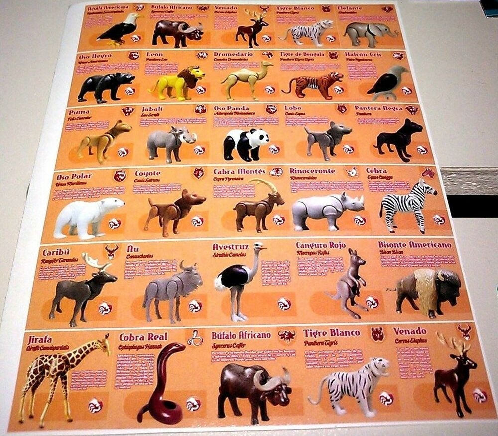 Lot Stickers for Zoo Playmobil Animals   eBay Zoo Animals Toys