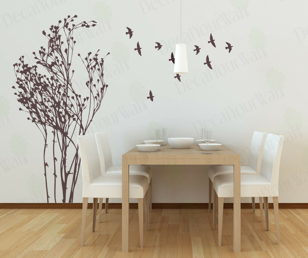 Large tree wall decal living room bedroom removable vinyl for Big tree with bird wall decal deco art sticker mural
