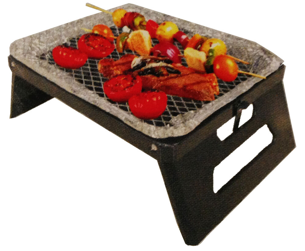 instant portable grill stand ez foldable legs charcoal bbq. Black Bedroom Furniture Sets. Home Design Ideas