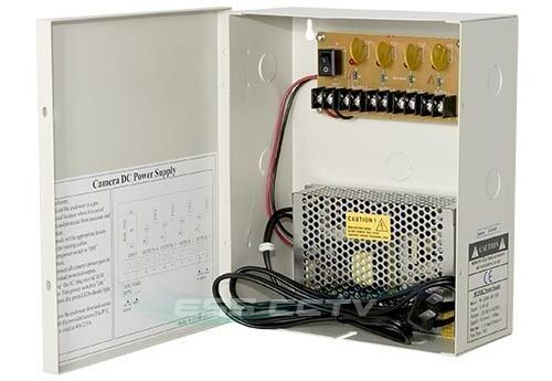 cctv security camera power supply distribution box 12v dc. Black Bedroom Furniture Sets. Home Design Ideas