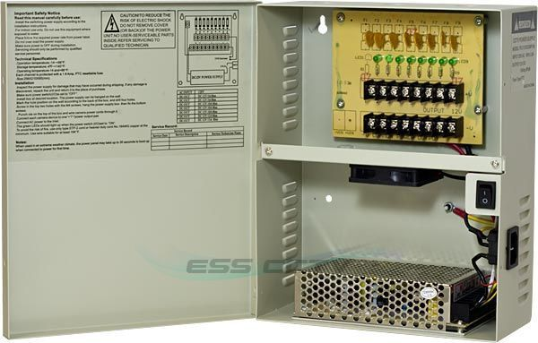 Cctv Security Camera Power Supply Distribution Box 12v Dc
