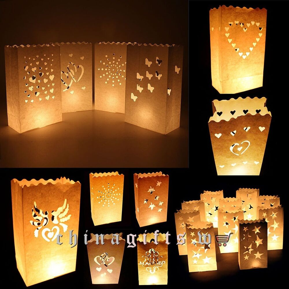 hot sales retro style white paper candle lantern bags
