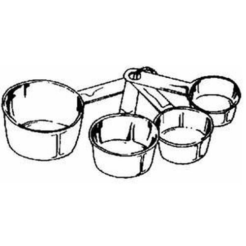 NEW NORPRO 3052 STAINLESS STEEL 4PC MEASURING CUP SET | eBay