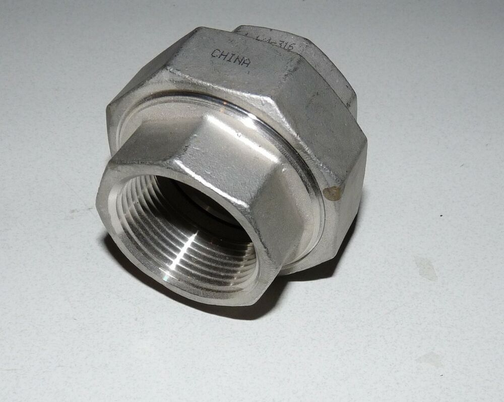 Sanitary stainless steel adapter female to quot ebay