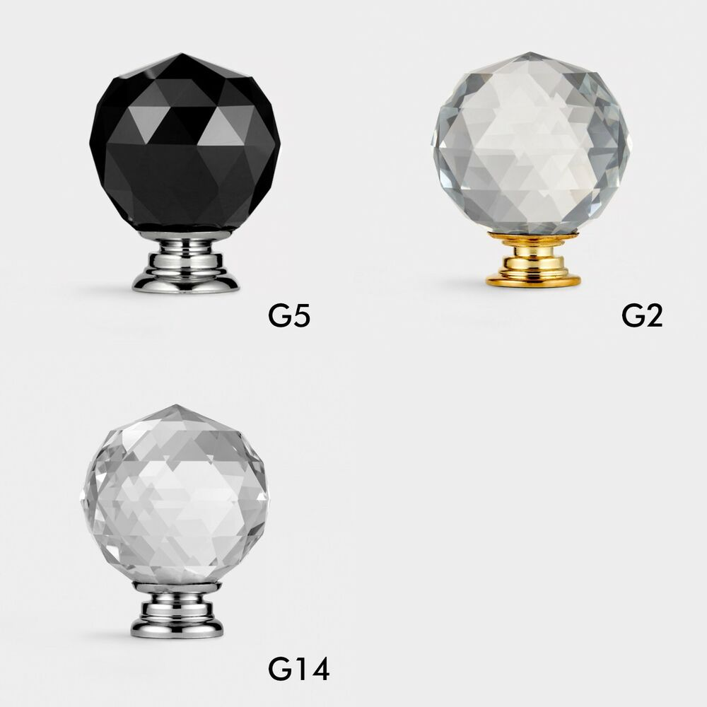 Glass Kitchen Cabinet Door Knobs: Crystal Glass Faceted Cupboard Drawer Knob Cabinet Door