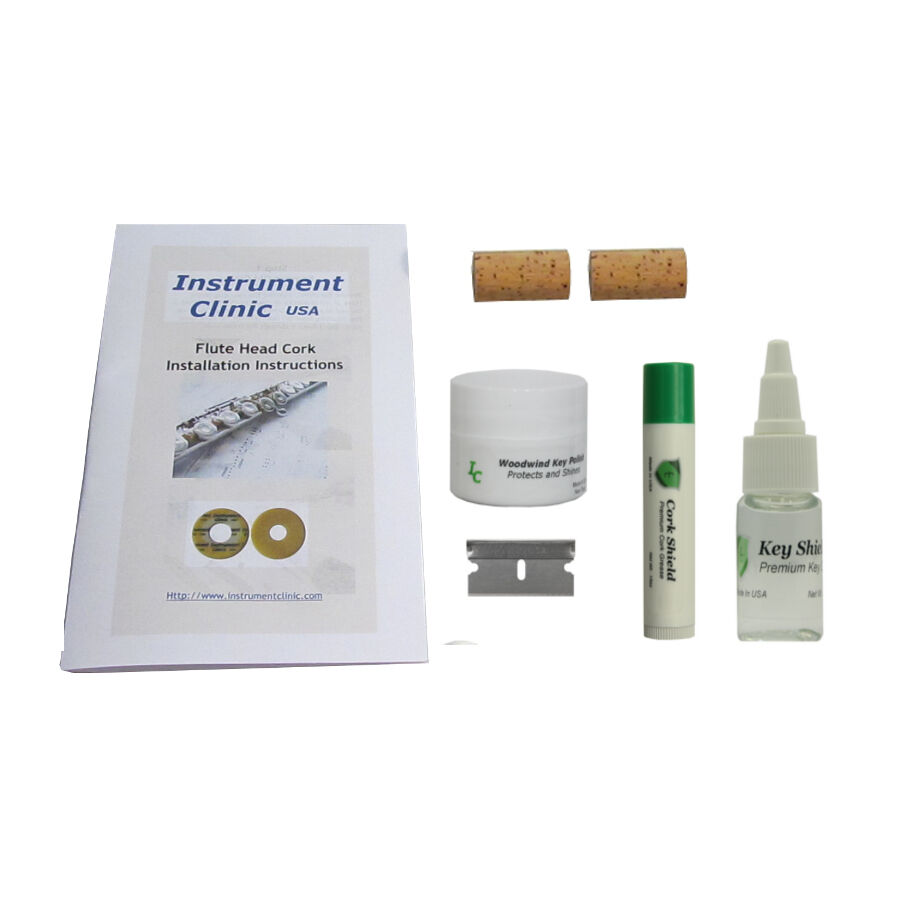 flute head cork maintenance kit 2 flute corks w polish cork grease ebay. Black Bedroom Furniture Sets. Home Design Ideas