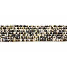 Black Lip Shell Heishi Beads (2 - 3 mm, 24 Inches Strand)