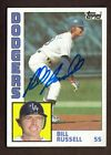 1984 TOPPS #792 BILL RUSSELL DODGERS AUTO SIGNED CARD JSA STAMP B