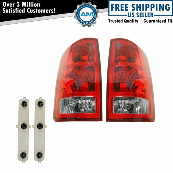 Taillights Taillamps Rear Brake Lights Left & Right Pair Set for Dodge Ram Truck