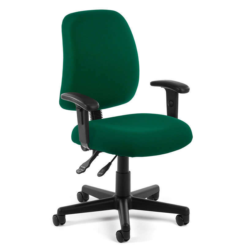GREEN FABRIC ERGONOMIC POSTURE TASK OFFICE DESK CHAIR WITH ARMS | eBay