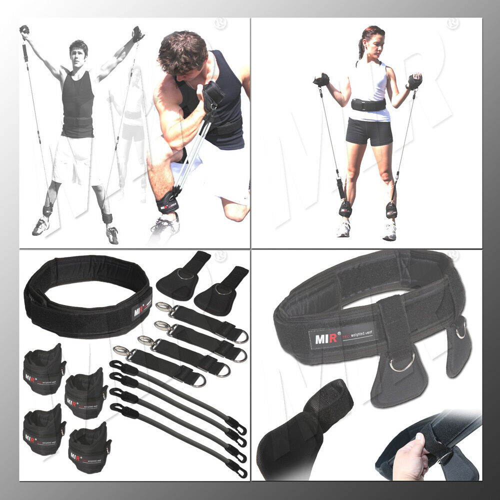 MiR Pro Ab Fitness Power Speed Resistance Band Workout