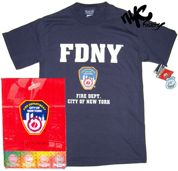 Mens navy fdny t shirt fire dept blue new york city for T shirt screen printing nyc