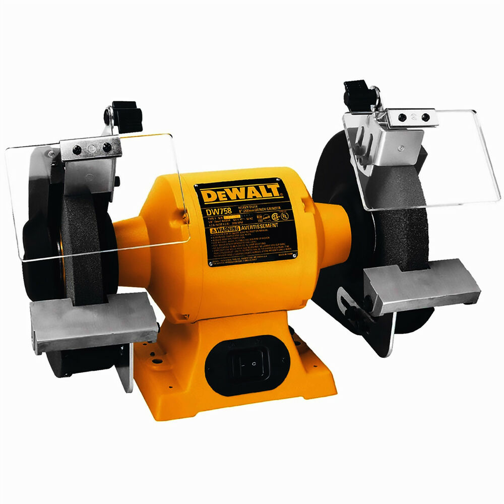 De Walt Electric Grinder ~ Dewalt dw heavy duty hp quot mm bench grinder