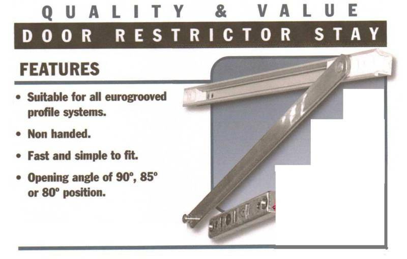 Door Arm Restrictor : Patio door restrictor arm stay for upvc ebay