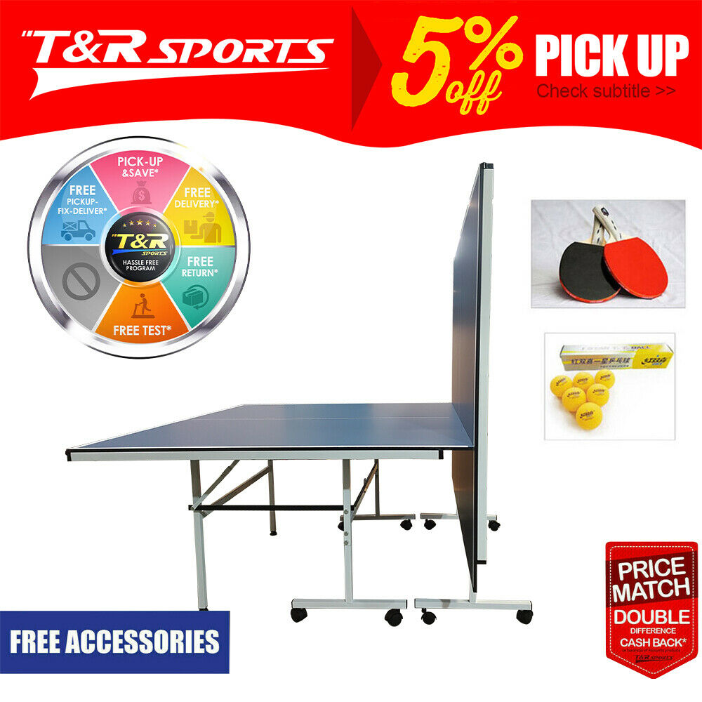 Tournament 25mm table tennis ping pong table free bats - What is the size of a ping pong table ...