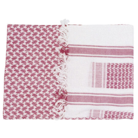 img-MILITARY ARMY Red and White SHEMAGH SCARF ARAB/SAS/RETRO