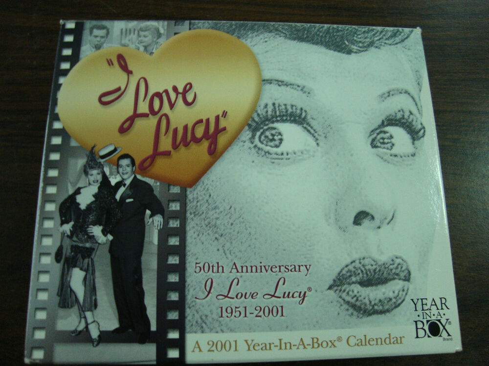 I Love Lucy 50th Anniversary 2001 Year In A Box Calendar