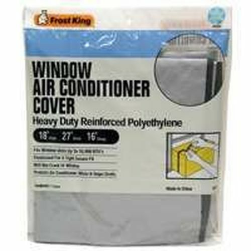 New frost king ac2h window air conditioner unit cover 18x27x16 poly sale 4389524 ebay for Window air conditioner covers exterior