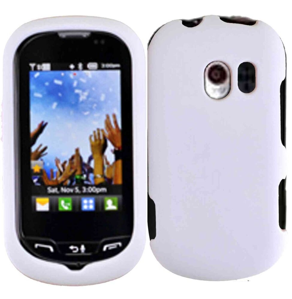 For LG Extravert Rubberized HARD Protector Case Snap On Phone Cover ...