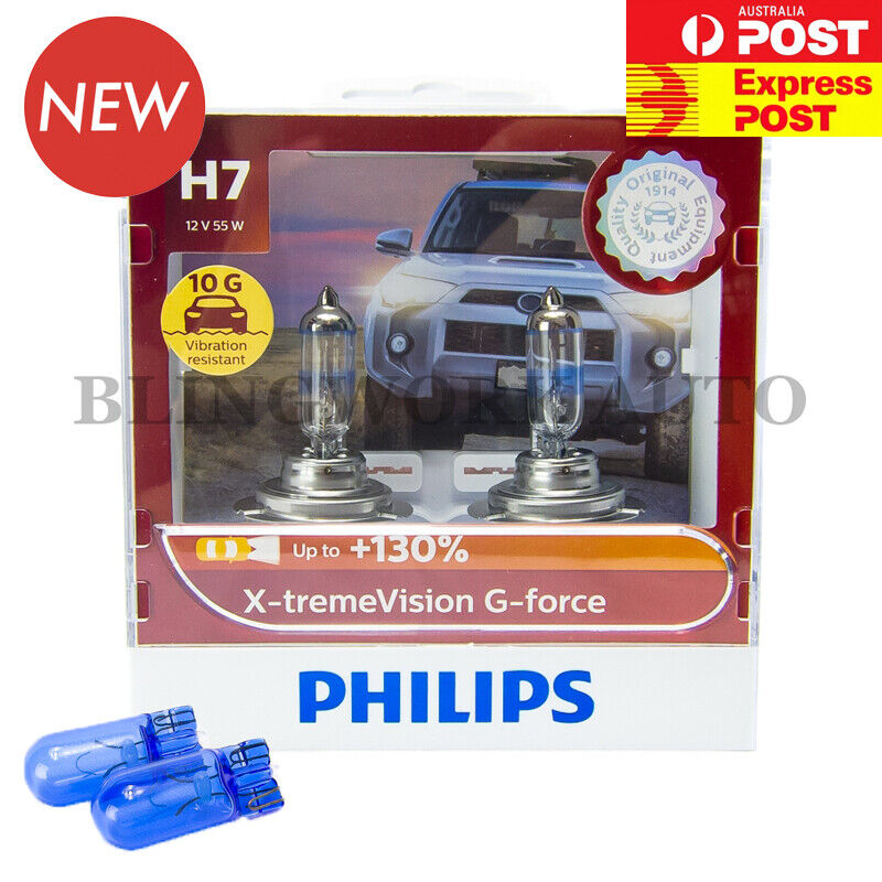 Aus Ver Philips H7 X Treme Vision Plus 130 Halogen Light Bulbs Extreme Xtreme Ebay