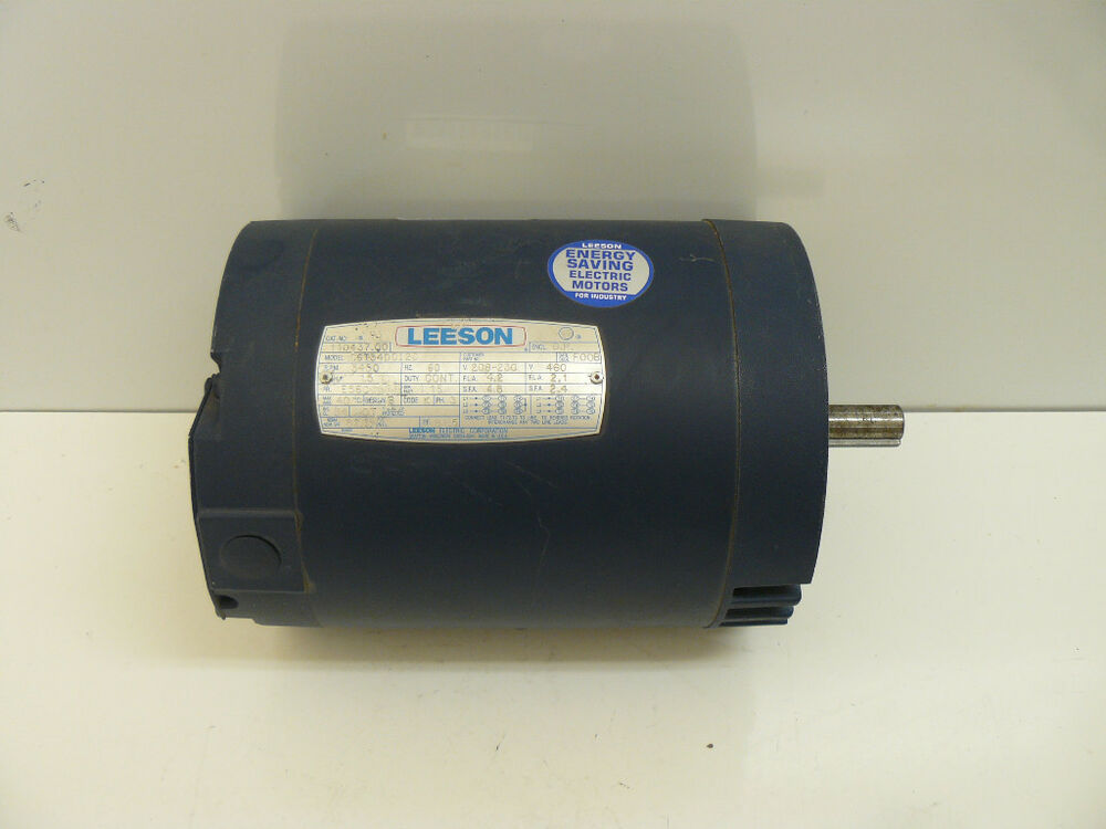 New leeson motor 3 phase 208 230 460 volt 3450 for 3 phase 3hp motor