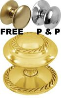 All Sizes SOLID BRASS CUPBOARD CABINET DRAWER SHUTTLE KNOBS PULL HANDLES